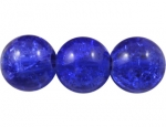 Crashperle aus Glas 8mm Cobalt