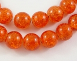 Crashperle aus Glas 8mm orange