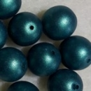 Glaswachsperle 10mm Dark Teal Lust 25 St