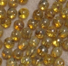 Glasperle rund 4mm Uranium Yellow silv Travert 120 St.