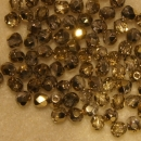 Glasschliffperle 3mm Crystal Brass 100St