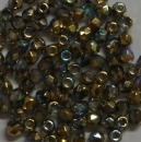 Glasschliffperle 3mm Cryst Rainbow Gold 1200 GH