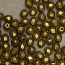 Glasschliffperle 4mm Crystal bronze GreenMat 100 St.