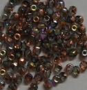 Glasschliffperle 4mm Cry Rainbow Copper 100 st