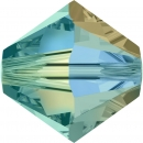 Swarovskiperle 3mm bic Blue Zircon AB2x 30st