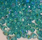 Swarovskiperle 3mm bicone Light Turquoise Shimmer2 720 St.