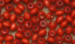 E Wood Beads 4mm red